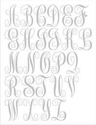 3 letter monogram monogram stencil 3 letter stencil create a beautiful custom monogram