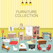 Home Interior Vector by Design Element And Furniture Collection For Home Interior Vector