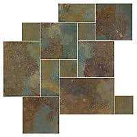 Rusty Brown Slate Mosaic Backsplash by Slate Floor Tile Tile Flooring The Tile Shop