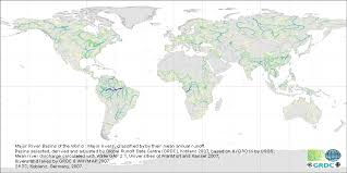 world rivers map shapefile bfg the grdc major river basins of the world
