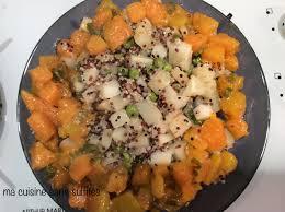 panais cuisine plat de quinoa panais petits pois et courge butternut à la sauge