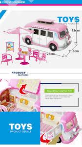 Toy Kitchen Set Food 31pcs Pretend Mini Picnic Car Kitchen Set Food Truck Toys With Low