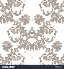 vector baroque floral damask ornament pattern stock vector