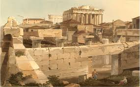 parthenon wikipedia view of the from propylea edward dodwell views