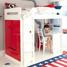 Modern White Bunk Beds  Pathfinderappco - White bunk bed with desk