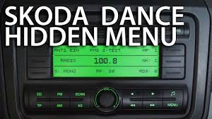 how to enter hidden service menu in skoda dance radio fabia