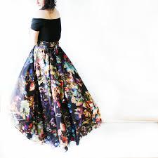 Long Flowy Maxi Skirt After Hours Maxi Bohemian Skirt Boho Festival Flowy Multicolor