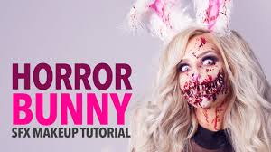 Halloween Bunny Makeup by Horror Bunny Special Fx Makeup Tutorial Youtube