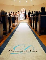 aisle runner diy personalized wedding aisle runner she did it for 23