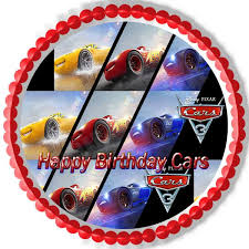cars cake toppers cars 3 mirror picture edible cake and cupcake topper edible