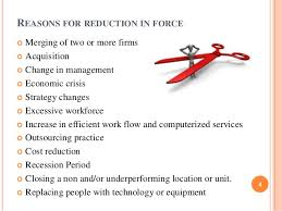 workforce reduction reduction in force