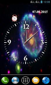 Clock Themes For Android Mobile   galaxy clock wallpaper free apk android app android freeware
