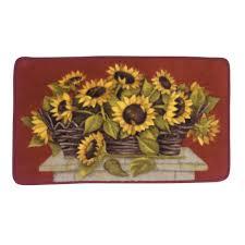 Poppy Kitchen Rug Sunflower Kitchen Rugs 50 Photos Home Improvement