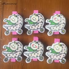 hello baby shower 48 pieces baby shower handmade craft clothespins hello baby