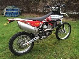 husqvarna te449 ktm greenlaner enduro motor bike in stoke