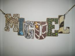 jungle safari wooden nursery letters baby boy name letters crib