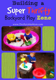 Backyard Play Area Ideas by Building A Super Thrifty Backyard Play Zone Backyard Play Sand