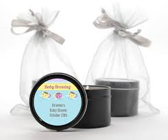 candle baby shower favors custom baby shower black candle tin favors