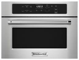 kitchenaid 1 4 cu ft built in microwave silver kmbs104ess best buy