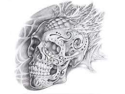 paint skull tattoo design art wallpaper hd ima 7880 wallpaper