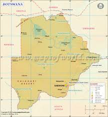 Longitude Map Botswana Map Map Of Botswana