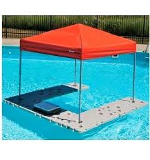 floating table for pool flamingo pool drink floats floating cooler shade canopy table river