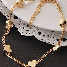 simple gold bracelet jewelry images New lady girls bangle simple golden filled chic heart trendy stars jpg