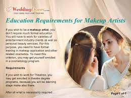 need a makeup artist education requirements for makeup artists