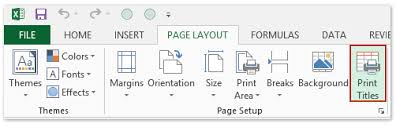 how to print title top row on every page repeatedly in excel