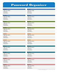 64 best password organizer images on pinterest organization