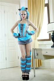 Cheshire Cat Halloween Costume Free Shipping Arrival Deluxe Blue Cheshire Cat Costume