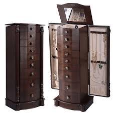 Kirklands Jewelry Armoire Furniture Espresso Jewelry Armoire Jewlery Cabinets Jewelry