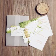 Wedding Invitation Pocket Envelopes Wood Love Sign Garden Pocket Invitations Iwgy060 Wedding
