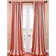 curtains ideas orange and white striped curtains inspiring