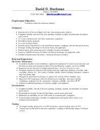 Pc Technician Resume Sample Cable Technician Resume Technical Resume Examples Resume