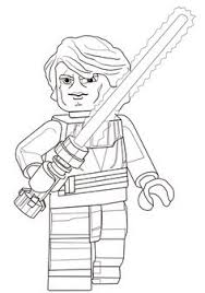 lego star wars anakin skywalker super coloring lineart star