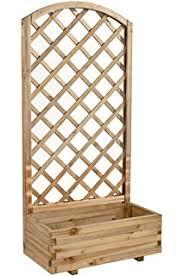 traliccio legno traliccio in legno con fioriera 90x40x170cm per esterno arredo