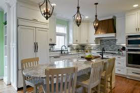 eat in kitchen island designs rectangle shape brown color kitchen island features
