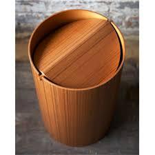 molded plywood waste basket w lid u2013 hugh