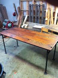 Pipe Desk Extra Thick Pipe Reclaimed Wood Desk Industrial Desk by 35 Best Industrial Desks Images On Pinterest Diy Coffee Tables