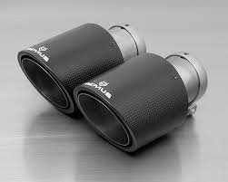 0026 70cs remus carbon dual exhaust tips angled 102mm ford