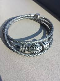 leather bracelet with silver charm images Grey leather bracelet jpg