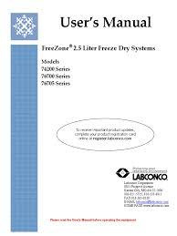 labconco freezone 2 5el manual freeze drying ac power plugs