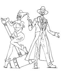 remarkable joker and harley quinn coloring pages for kids archives