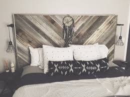 Pallet Wood Headboard Remarkable Headboards For The Not So Large Bedroom Rustic
