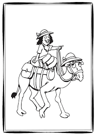 six camel coloring pages for the classroom