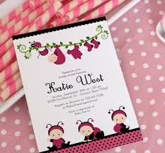 template ladybug baby shower invitations