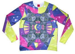 cat sweater cosmic cat sweater dazzle jolt