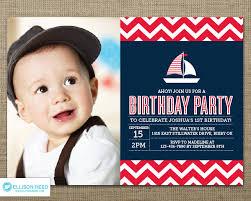 nautical birthday invitation nautical printable sail boat