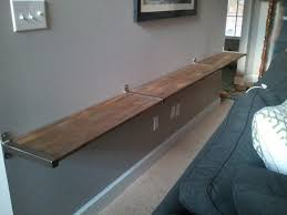 alternative to console table behind couch doesn u0027t take up any